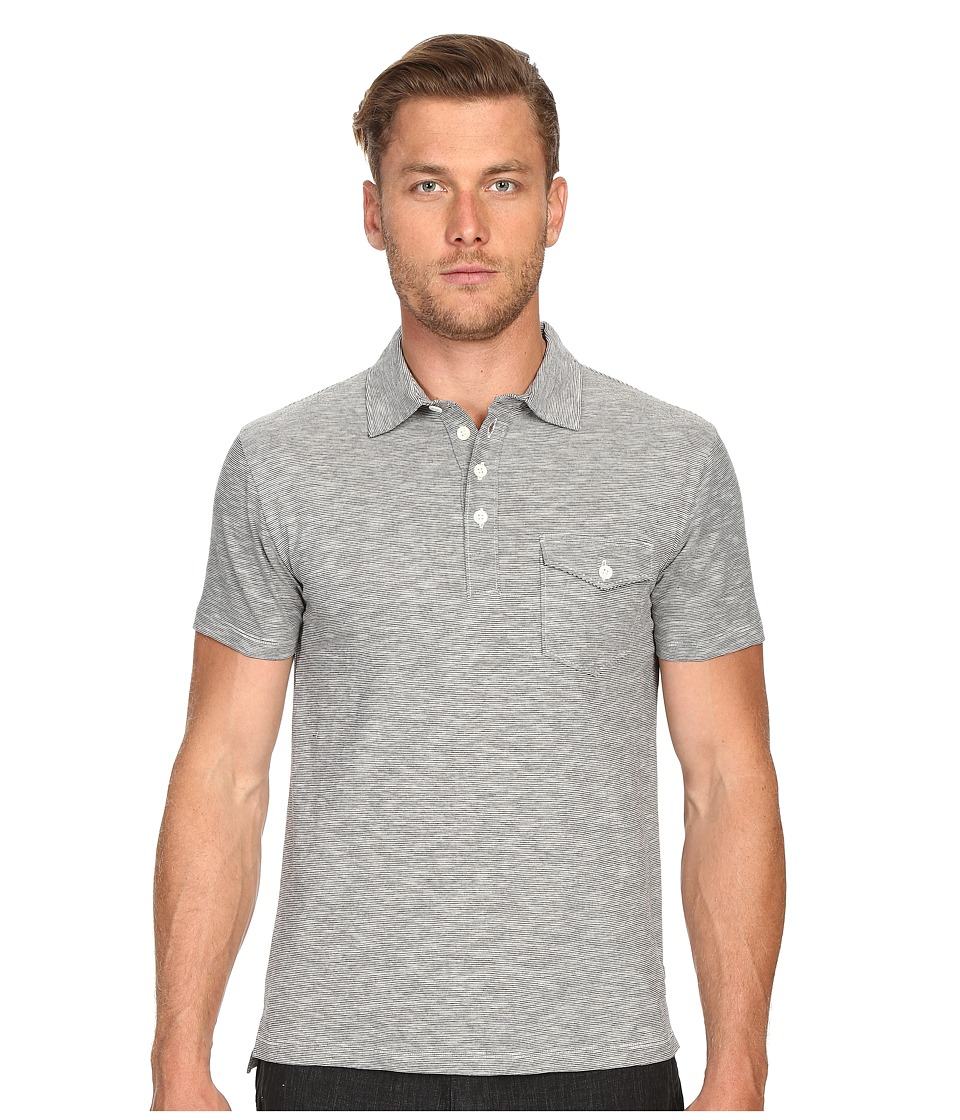 Todd Snyder - Striped Polo (Black) Men's Clothing