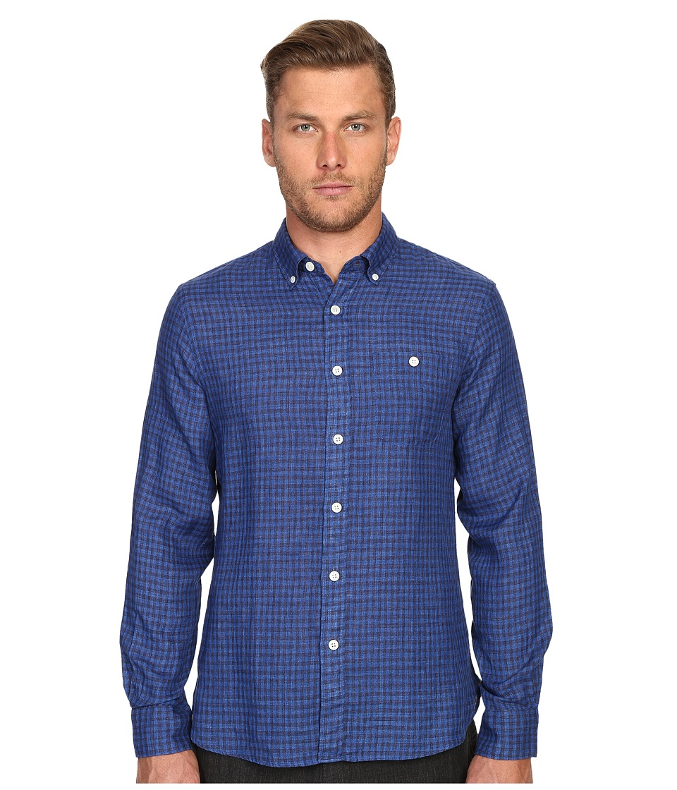 Todd Snyder - Balanced Check Cotton Button Down (Blue) Men's Clothing