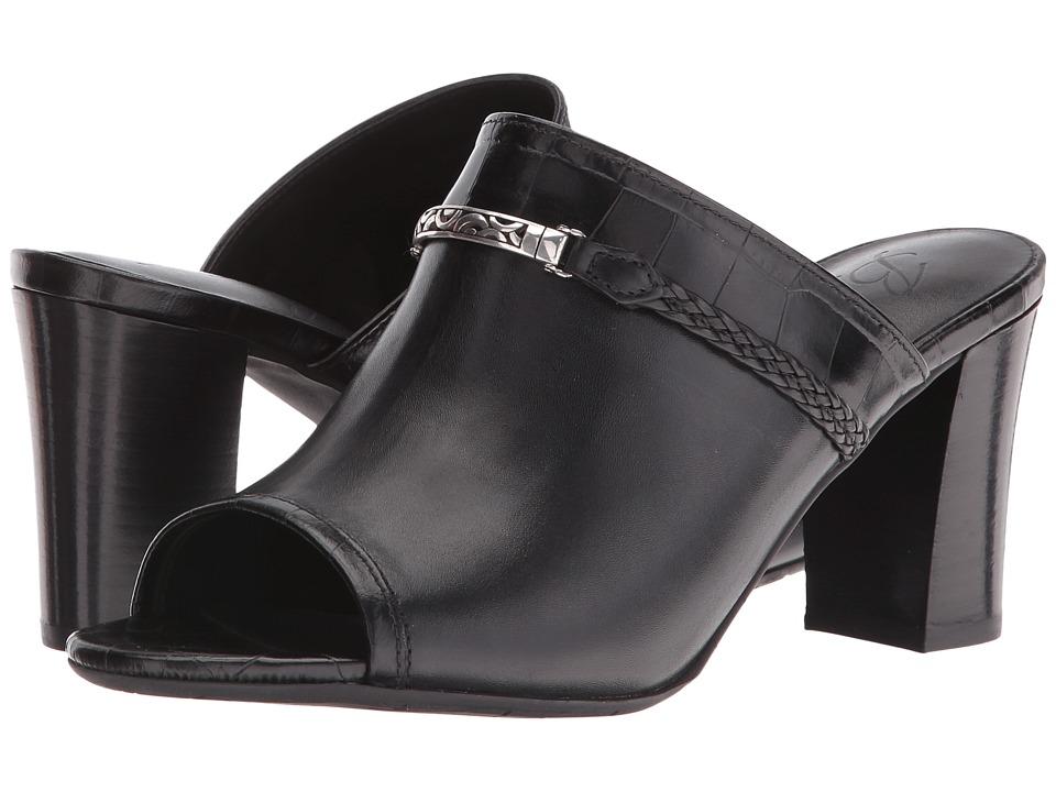 Brighton - Ray (Black) Women's Toe Open Shoes