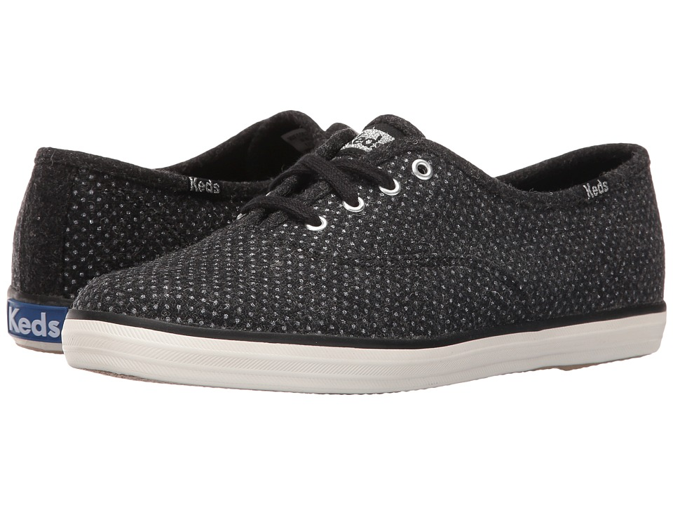 Keds - Champion Glitter Wool (Black) Women's Lace up casual Shoes