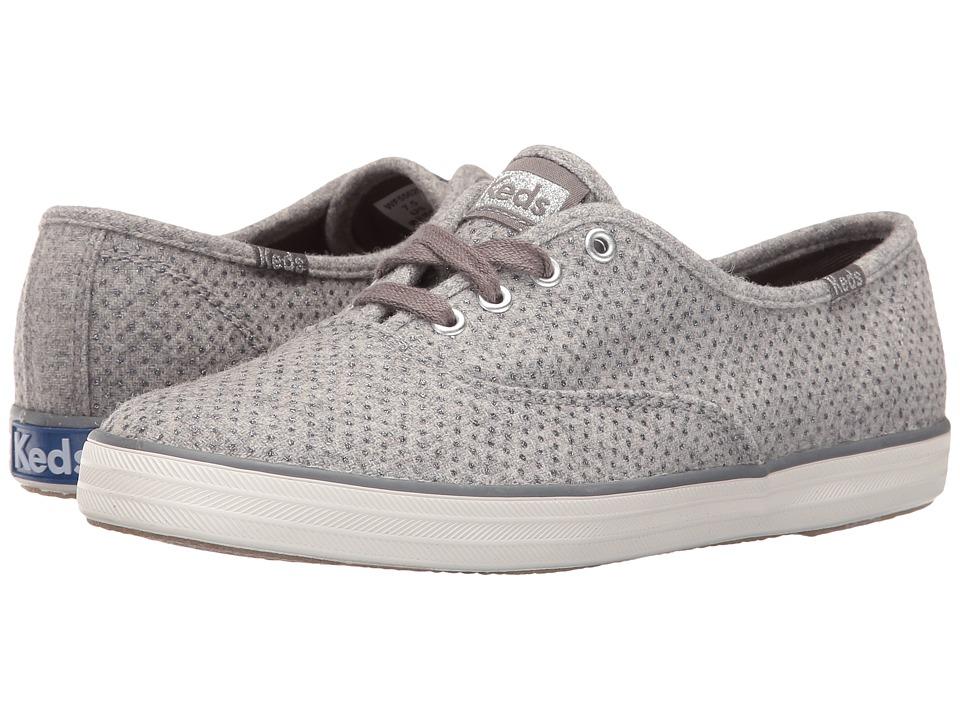 Keds Champion Glitter Wool (Gray) Women