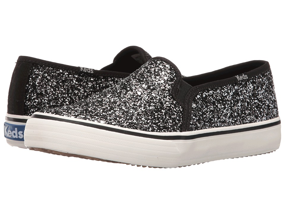 Keds - Double Decker Glitter (Black) Women's Slip on Shoes