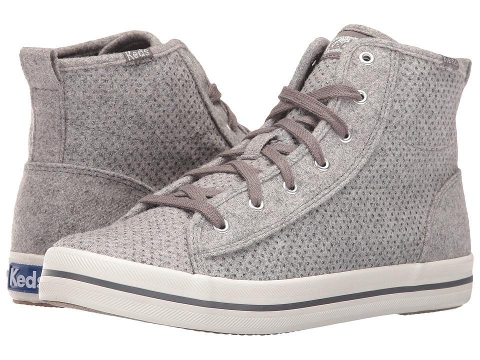 Keds Kickstart Hi Glitter Wool (Gray) Women