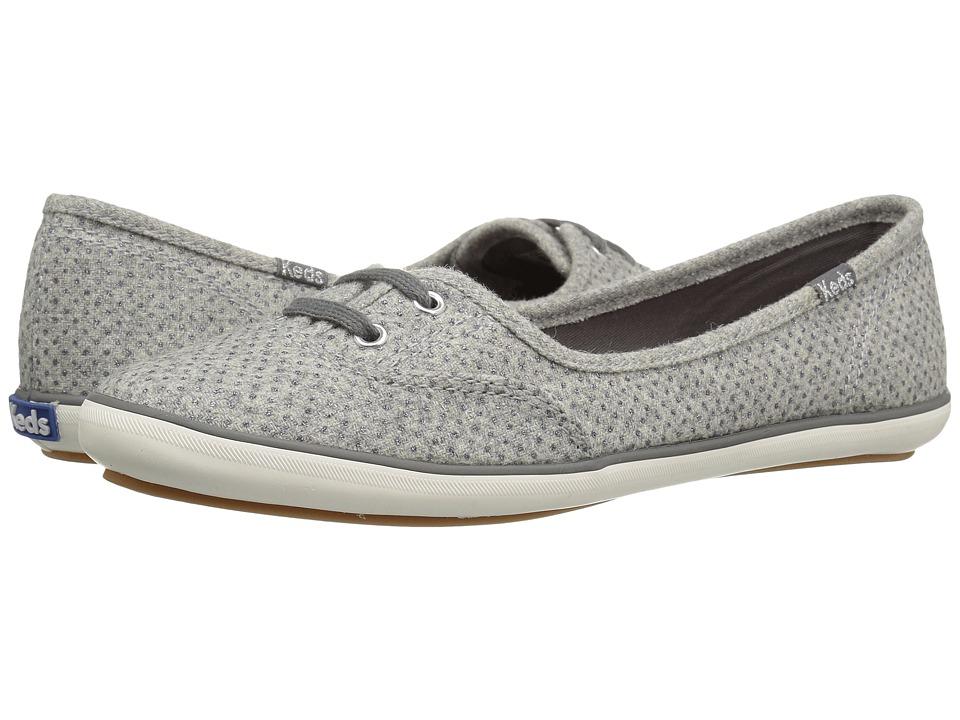 Keds Teacup Glitter Wool (Gray) Women