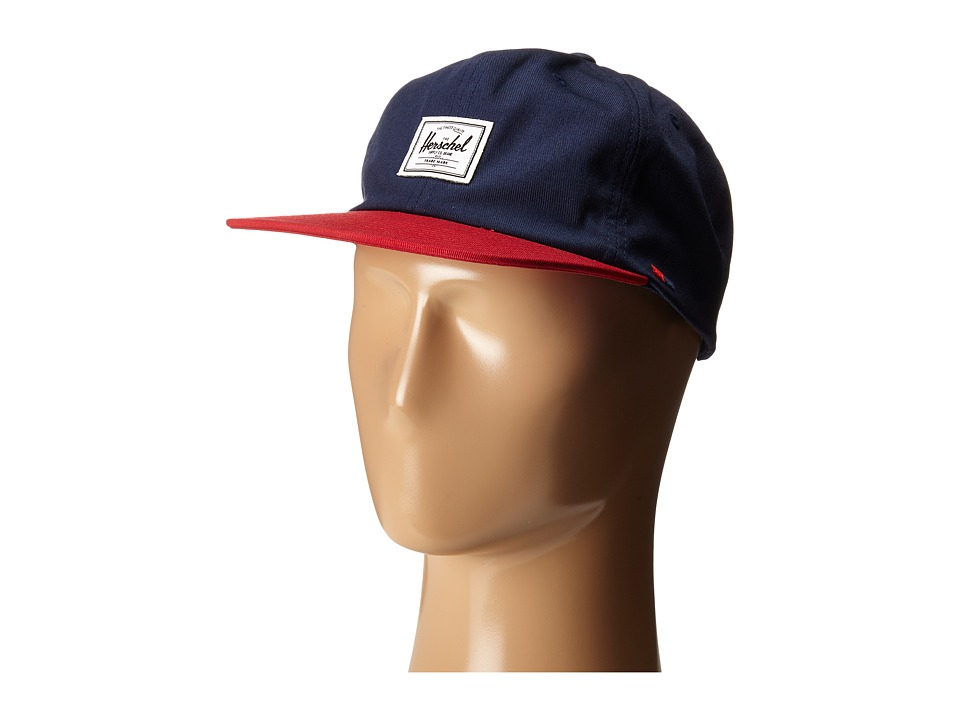Herschel Supply Co. - Albert (Navy/Red) Caps