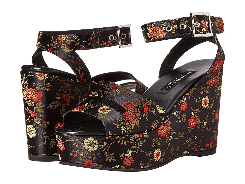 NewbarK - Maggie Wedge (Chinese Floral Print) Women's Wedge Shoes