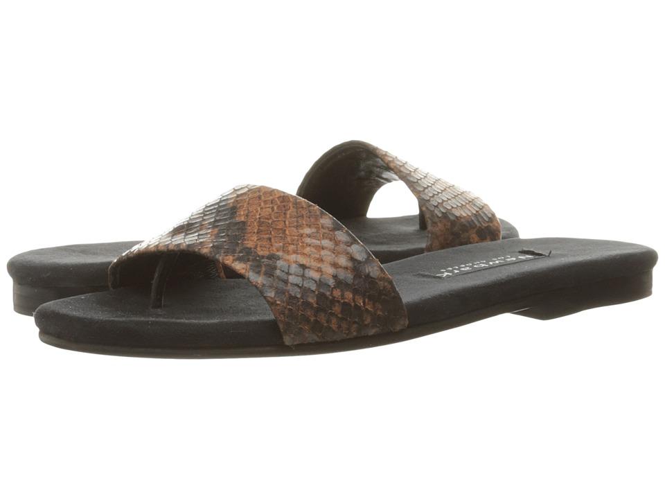 NewbarK - Roma I (Rust Embossed Snake) Women's Sandals