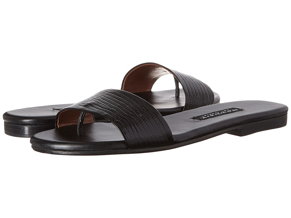 NewbarK - Roma I (Black Embossed Lizard) Women's Sandals