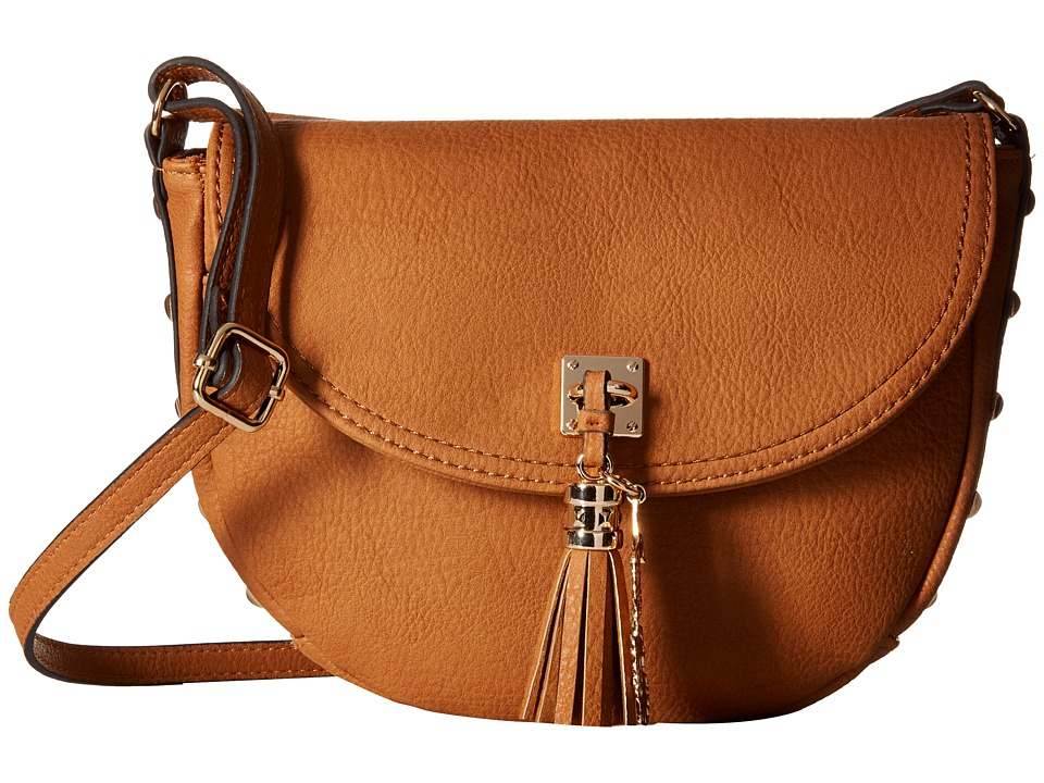 Jessica Simpson - Rodica Flap Crossbody (Cognac) Cross Body Handbags