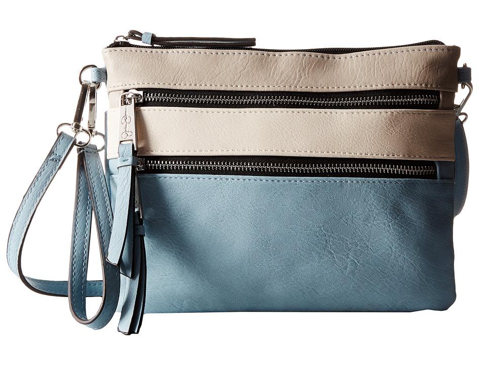Jessica Simpson - Clara Crossbody (Cloud Grey/Putty/Chambray) Cross Body Handbags