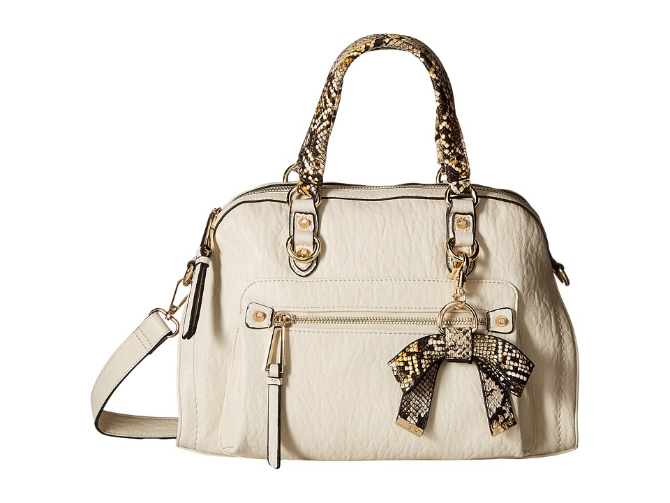 Jessica Simpson - Tatiana Satchel (Putty/Brown Mustard Python) Satchel Handbags