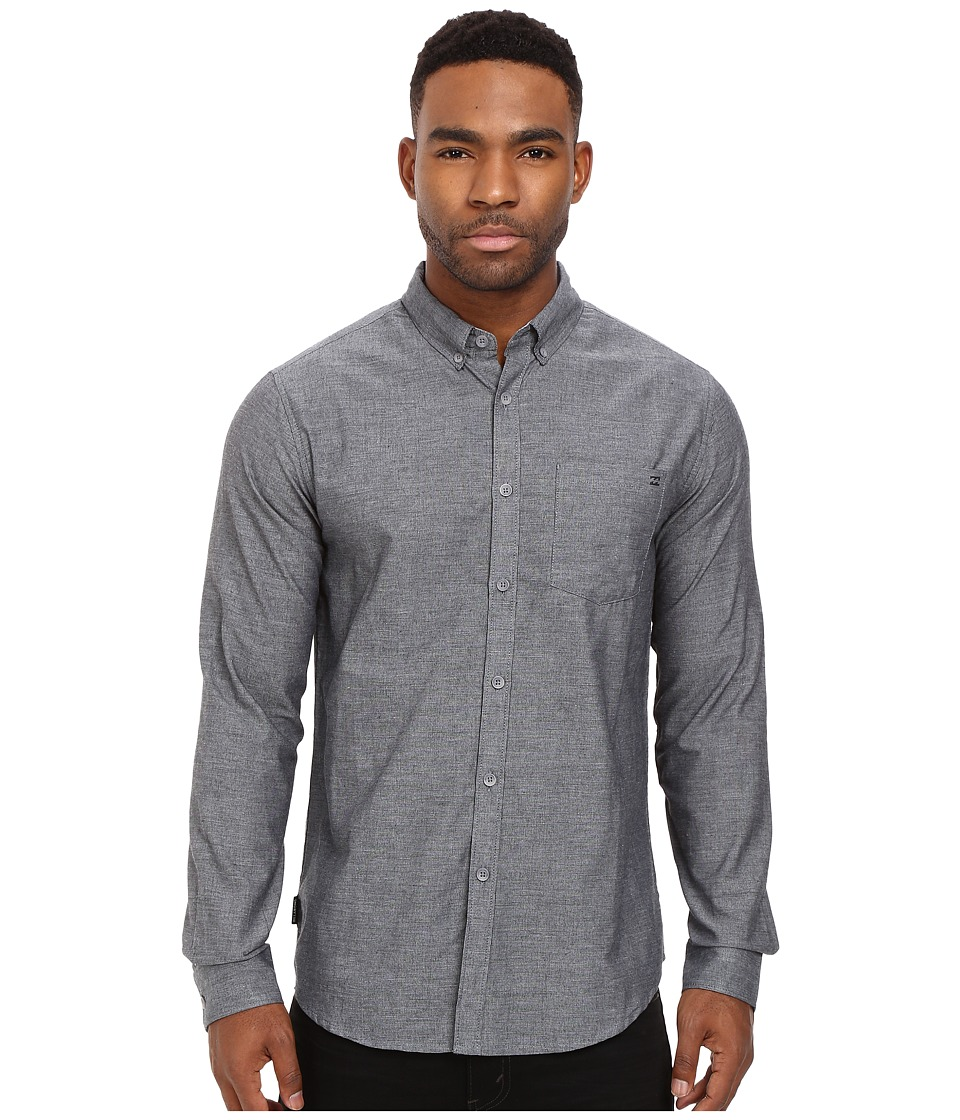 Billabong - All Day Long Sleeve Chambray (Black) Men's Long Sleeve Pullover