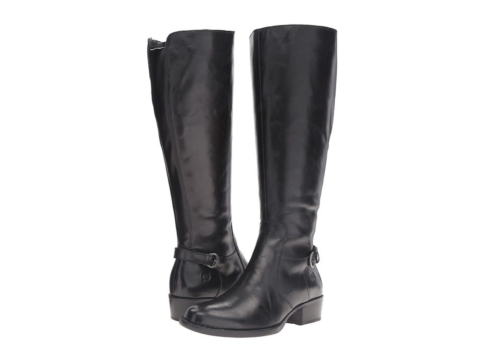 Born Helen Wide Calf (Black Leather) Women