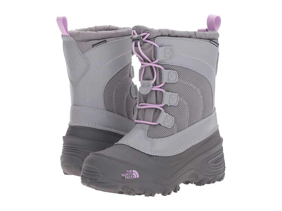 The North Face Kids - Alpenglow Lace (Toddler/Little Kid/Big Kid) (Q-Silver Grey/Lupine Purple) Girls Shoes