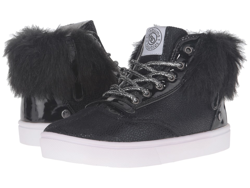 Bumbums & Baubles - Brooklyn Fur (Toddler/Little Kid/Big Kid) (Blacktop) Girl's Shoes