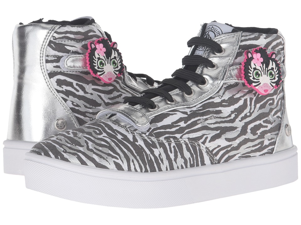 Bumbums & Baubles - Brooklyn II Hi-Top Sneaker (Toddler/Little Kid/Big Kid) (Zoo) Girl's Shoes