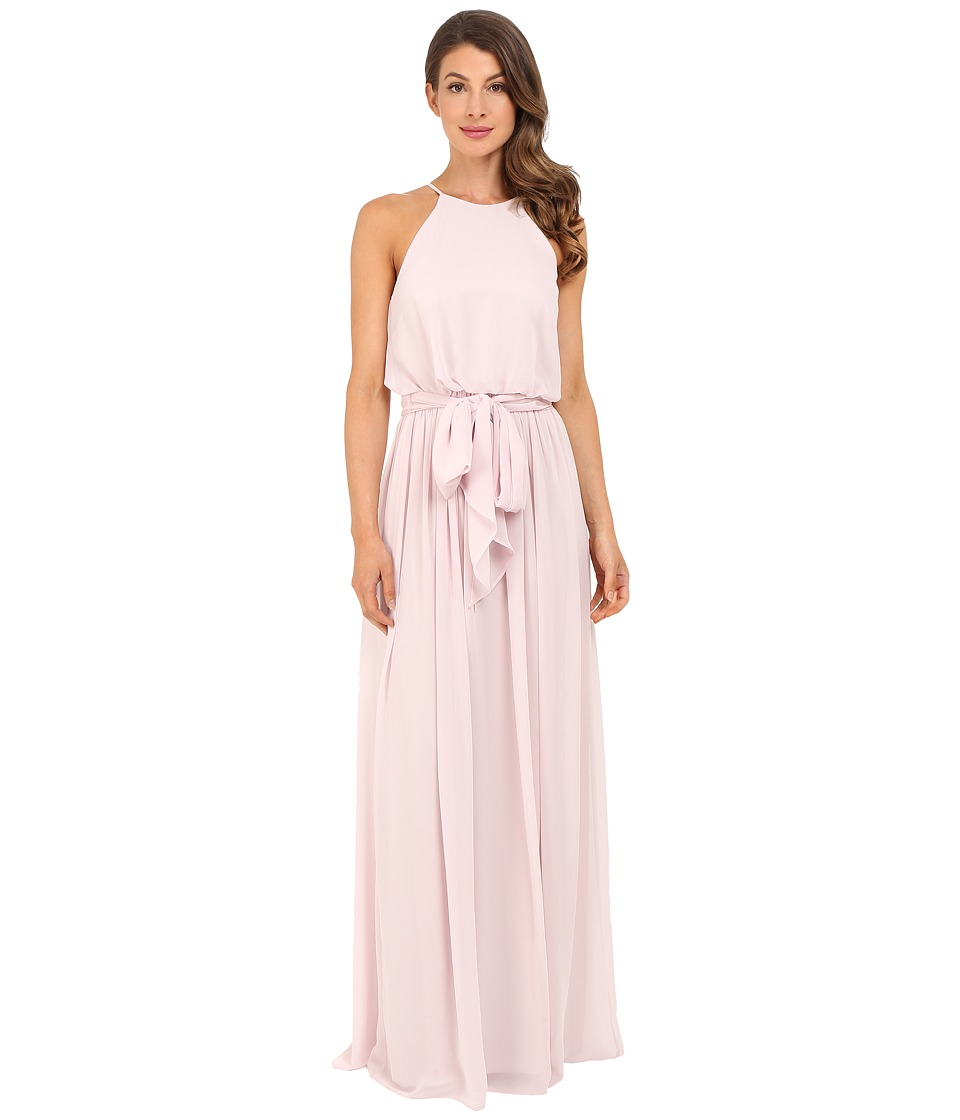 Donna Morgan - Alana Drape Blouson Gown (Palest Pink) Women's Dress
