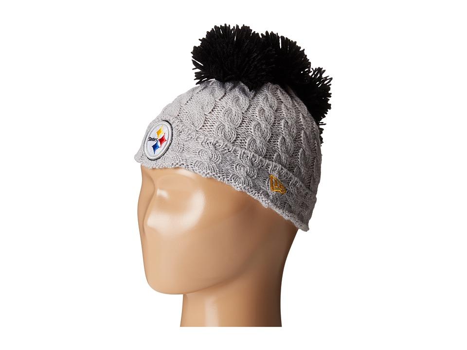 New Era - Pom Quad Pittsburg Steelers (Grey) Caps