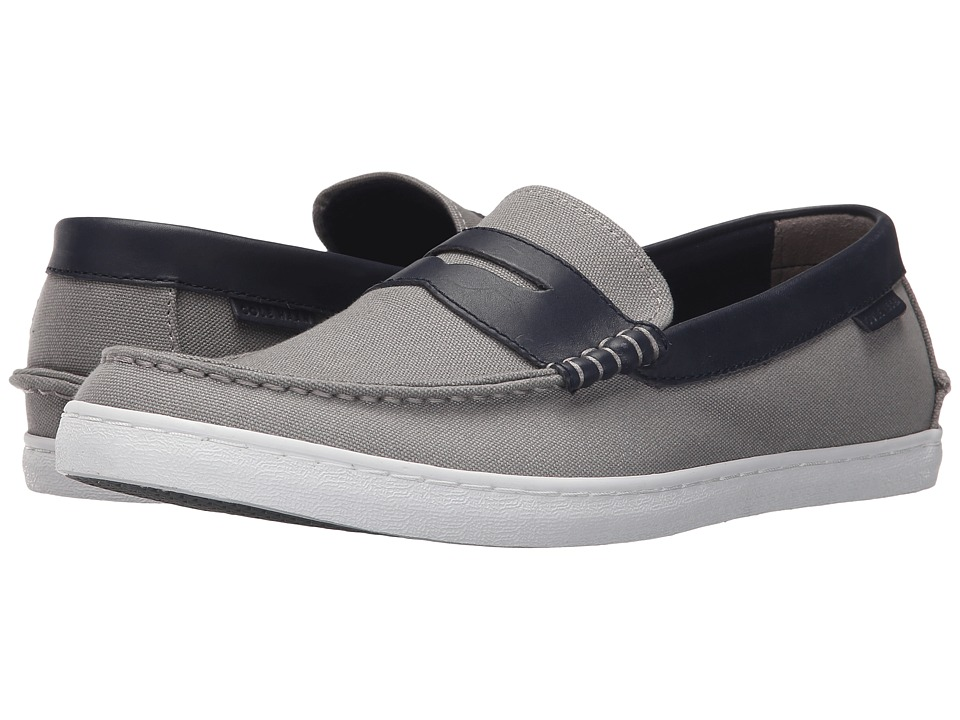 Cole Haan - Nantucket Loafer (Grey Canvas/Blazer Blue Leather) Men