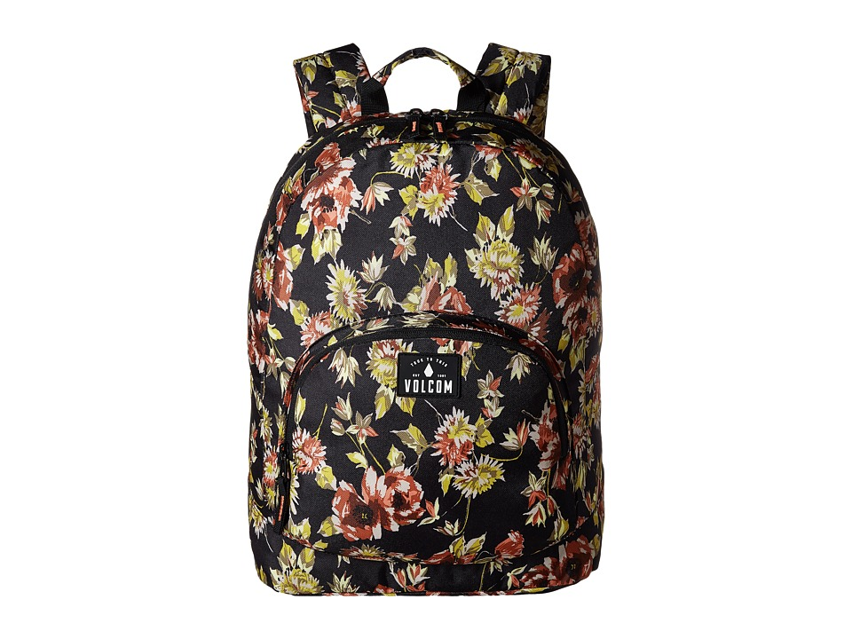 Volcom - Schoolyard Poly Backpack (Black) Backpack Bags