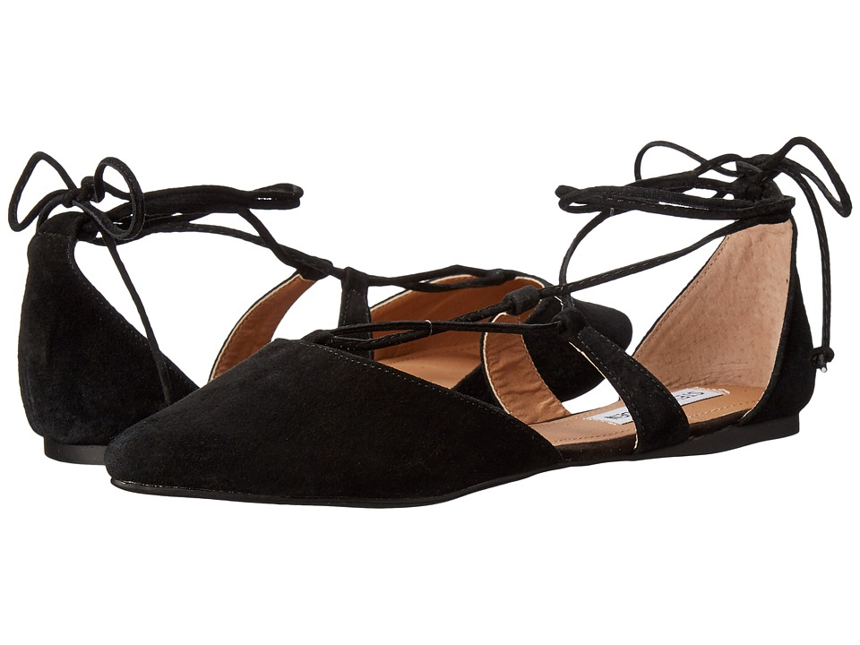 Steve Madden - Britzi (Black Suede) Women's Flat Shoes