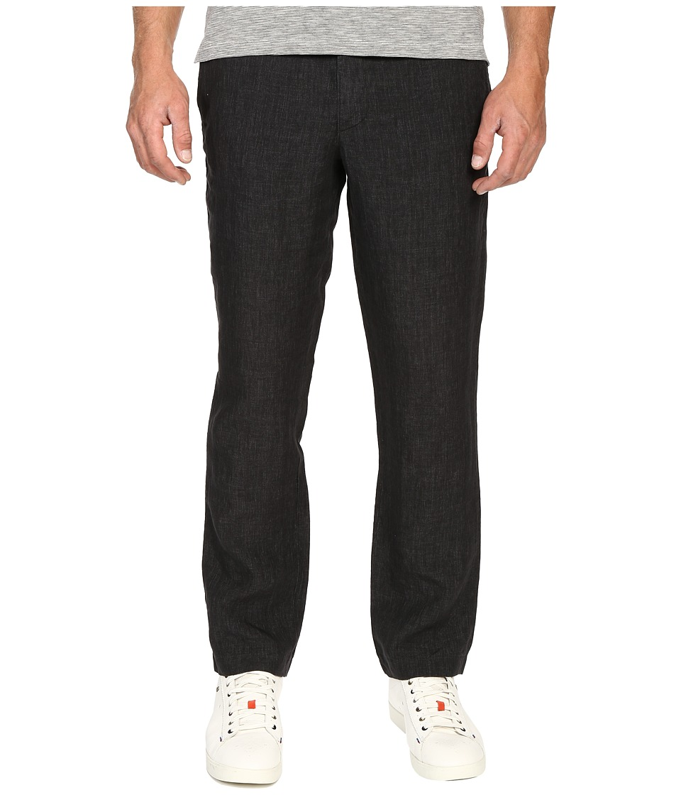 Todd Snyder - Brighton Linen Pants (Charcoal) Men's Casual Pants