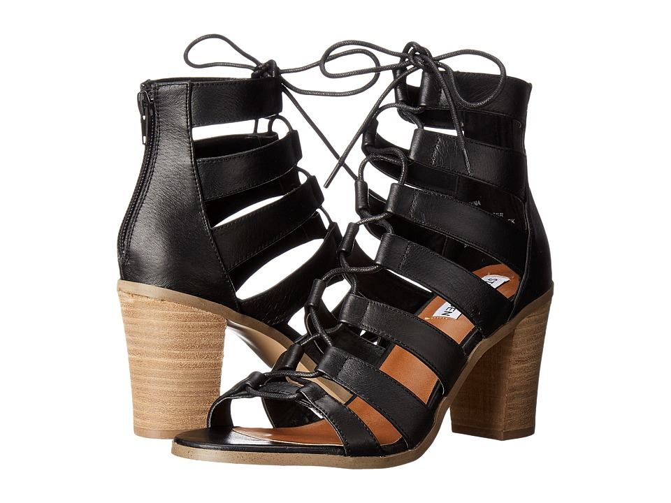 Steve Madden - Dayyna (Black Leather) High Heels