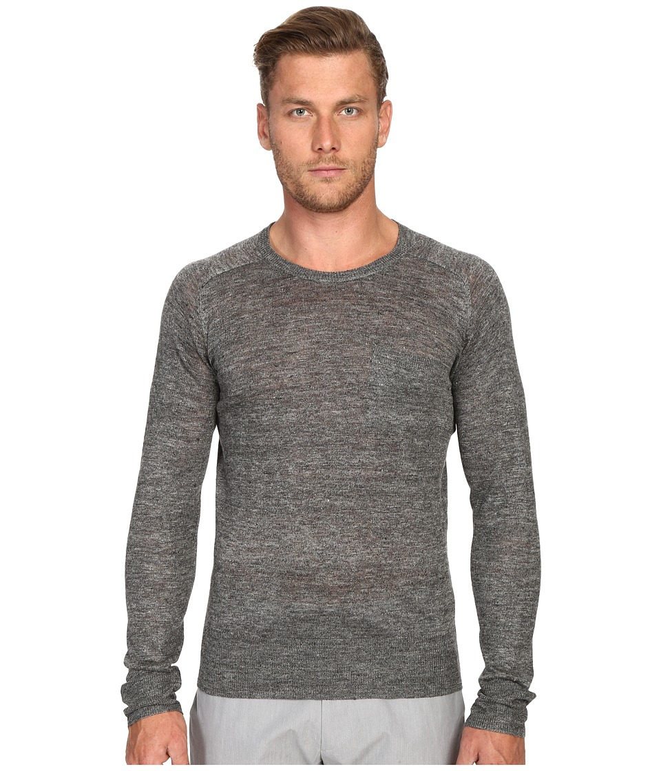 Todd Snyder Saddle Pocket Crew Sweater (Charcoal) Men