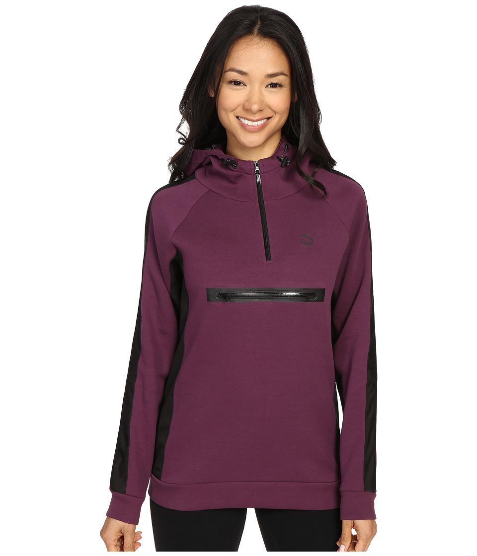 PUMA - 1/2 Zip Hoodie (Italian Plum/Black) Women's Sweatshirt
