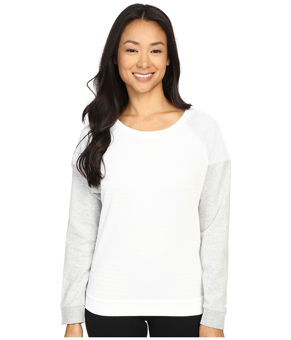 PUMA - Crew Neck (White) Women's Long Sleeve Pullover