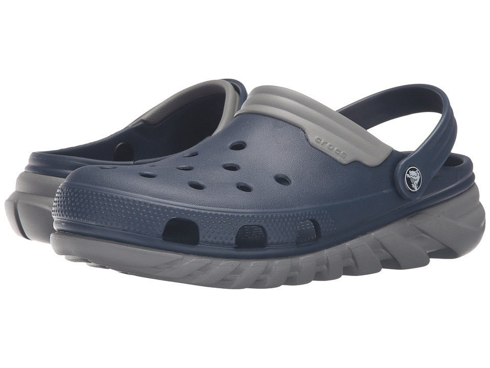 Crocs - Duet Max Clog (Navy/Smoke) Clog Shoes