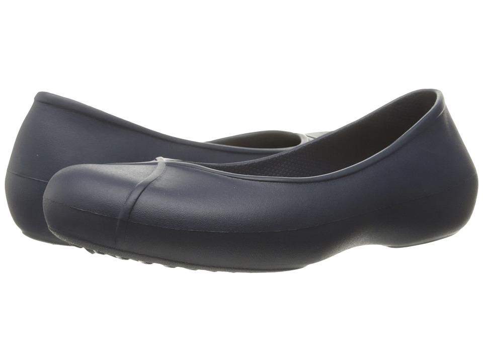 Crocs - Olivia II Lined Flat (Navy) Women's Flat Shoes