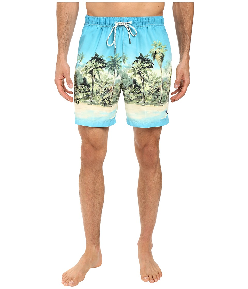 Tommy Bahama - Naples Cubano Cape Swim Trunks (Pool Blue) Men's Swimwear