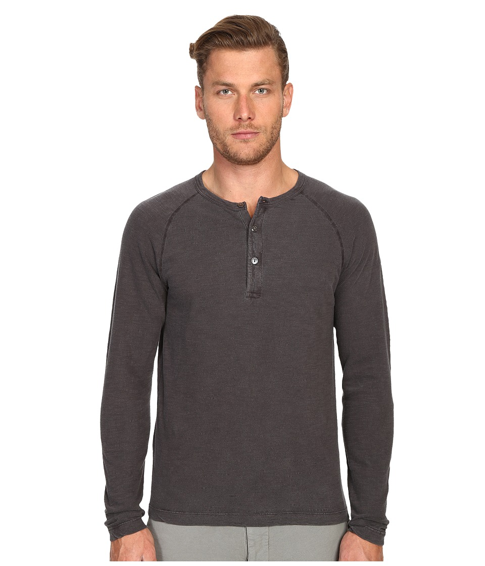 Todd Snyder - Weathered Henley (Charcoal) Men's T Shirt