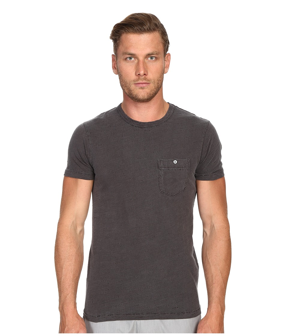 Todd Snyder - Weathered Button Crew Tee (Charcoal) Men's T Shirt