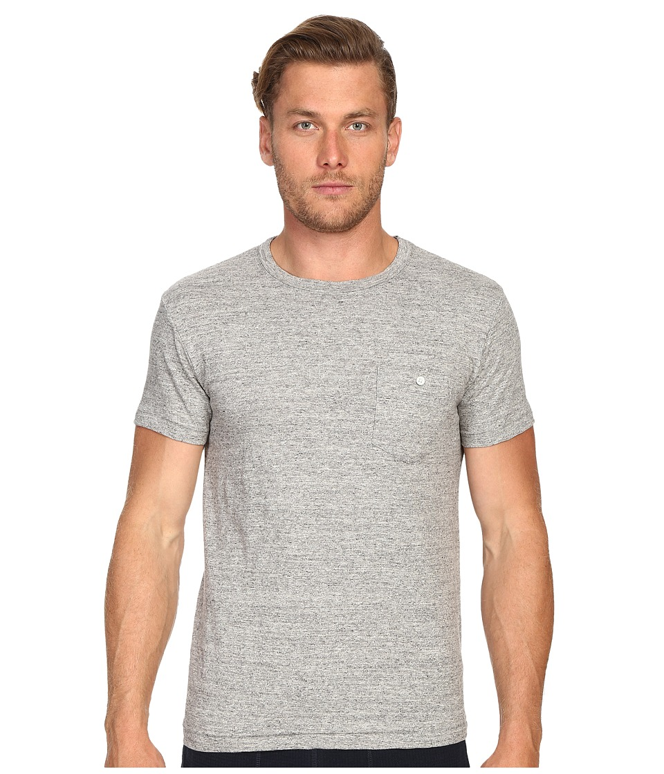 Todd Snyder - Weathered Button Crew Tee (Antique Grey Mix) Men's T Shirt