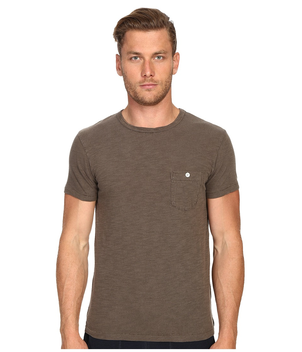 Todd Snyder - Weathered Button Crew Tee (Bark) Men's T Shirt