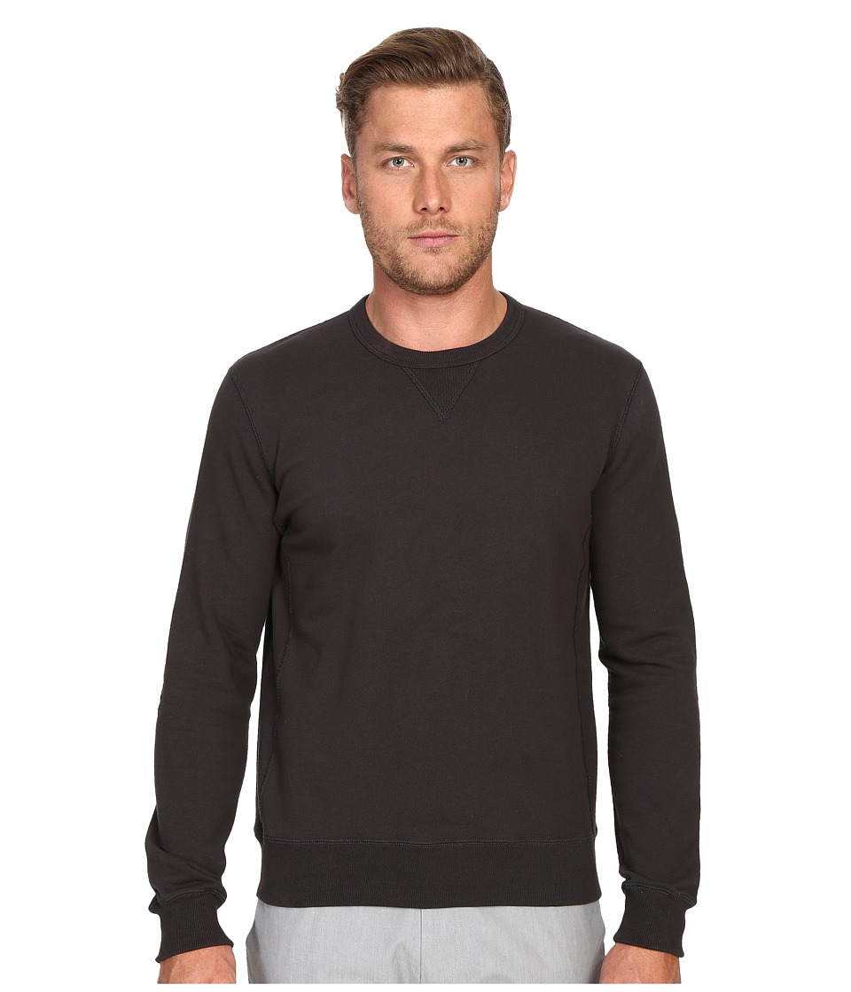Todd Snyder - Patch Crew Sweatshirt (Charcoal) Men's Sweatshirt