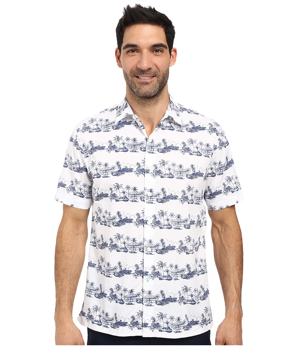 Tommy Bahama - Cuba Cruiser Shirt (Bright White) Men's Short Sleeve Button Up
