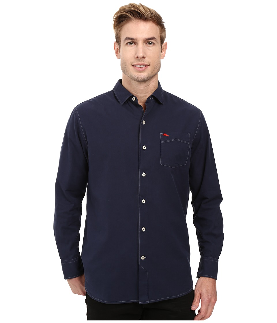 Tommy Bahama - Island Twill Shirt (Navy) Men's Clothing