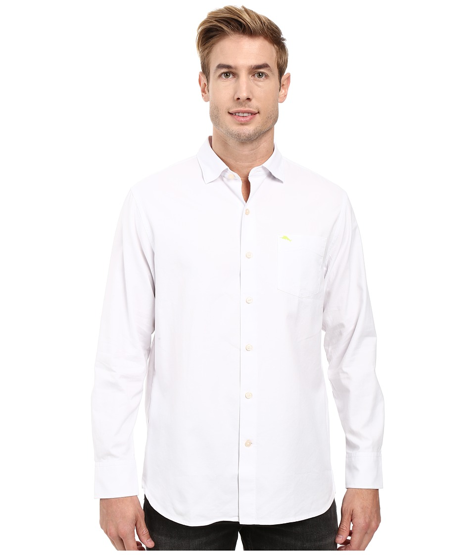 Tommy Bahama - Island Twill Shirt (White) Men's Clothing