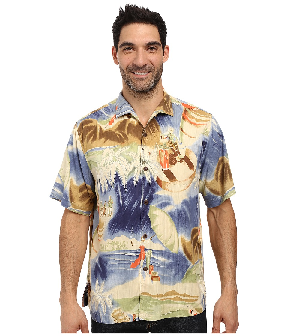 Tommy Bahama - Flamenco Fiesta Shirt (Dockside Blue) Men's Short Sleeve Button Up