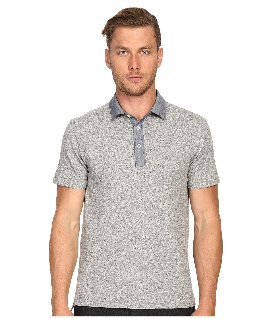 Todd Snyder - Chambray Trim Polo (Antique Grey Mix) Men's Clothing