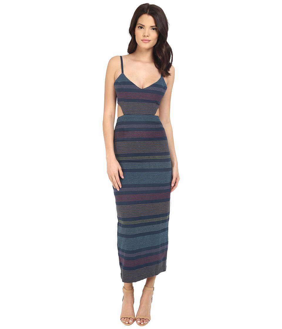 Mara Hoffman - Indigo Embroidered Cut Out Dress (Indigo) Women's Dress