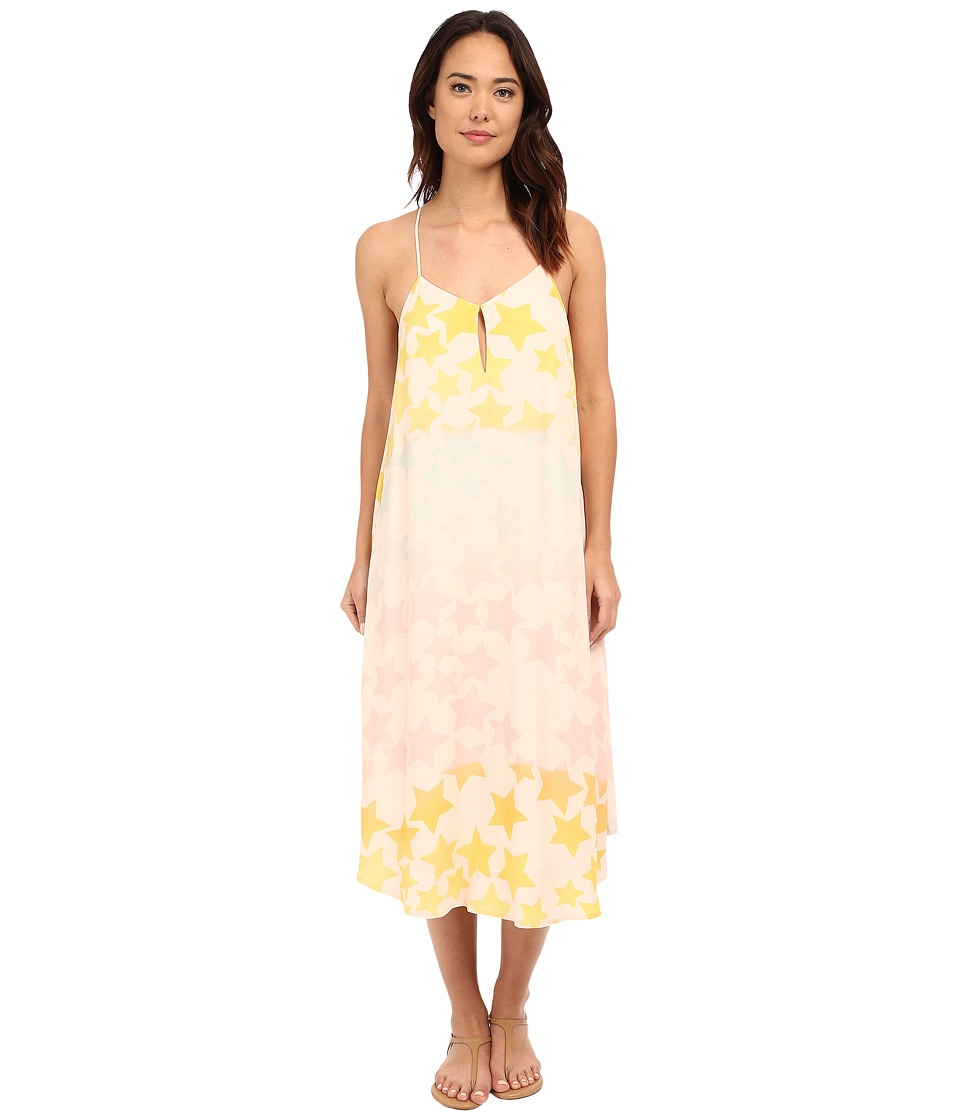 Mara Hoffman Starblast Keyhole Dress (Peachy Pink) Women
