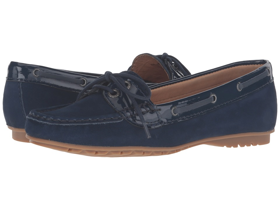 Sebago Meriden Two Eye (Navy Nubuck/Patent) Women