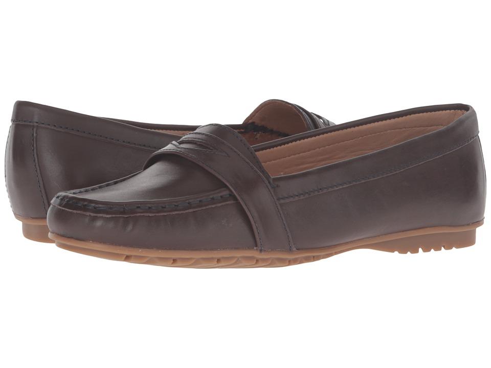 Sebago - Meriden Penny (Dark Brown Leather) Women's Slip on Shoes