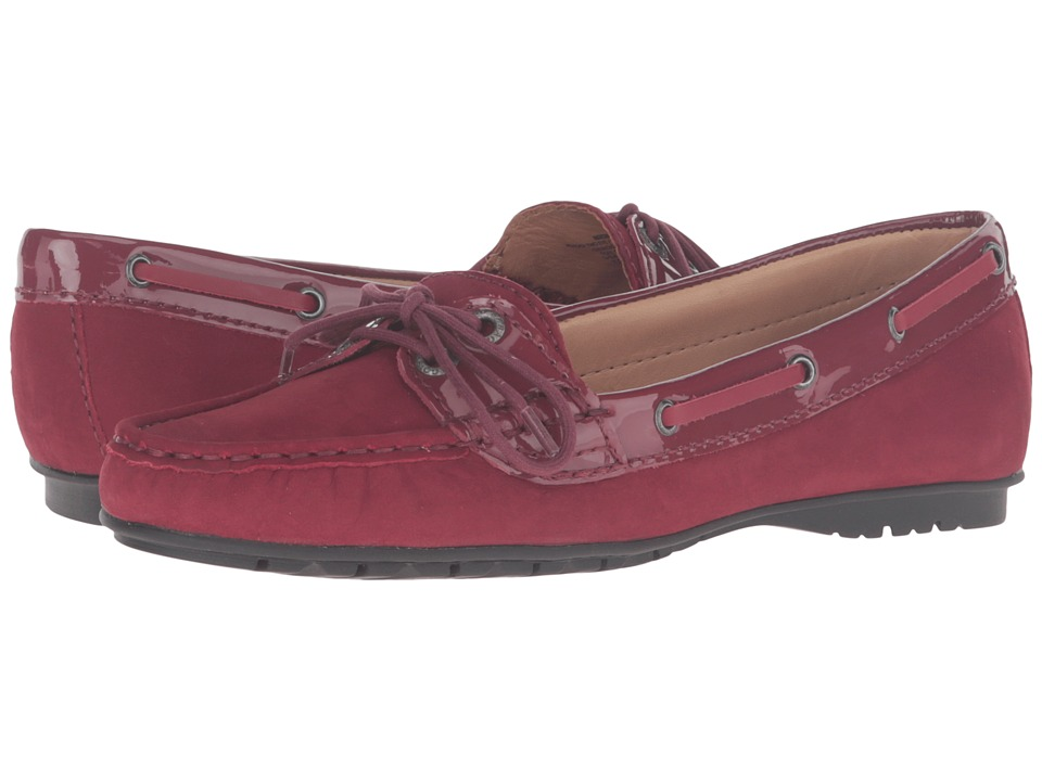Sebago - Meriden Two Eye (Wine Nubuck/Patent) Women's Shoes