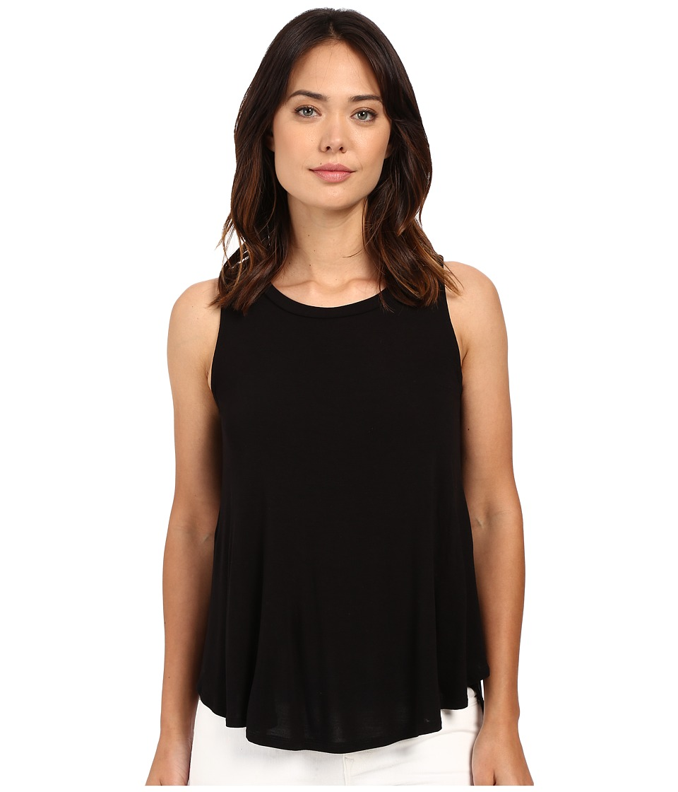 B Collection by Bobeau - Isabella Pleat Back Knit Tank Top (Black) Women's Sleeveless