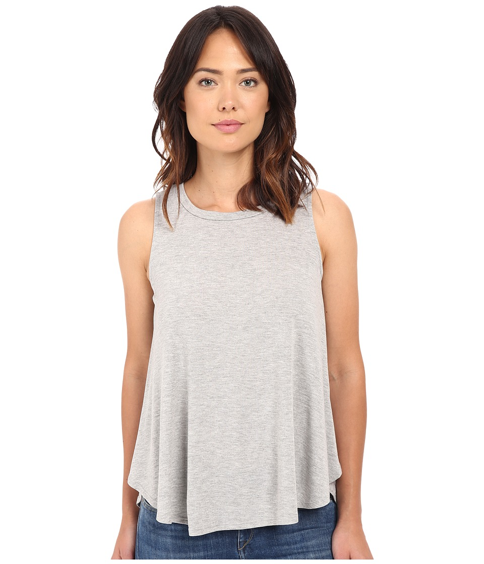 B Collection by Bobeau - Isabella Pleat Back Knit Tank Top (Heather Grey) Women's Sleeveless